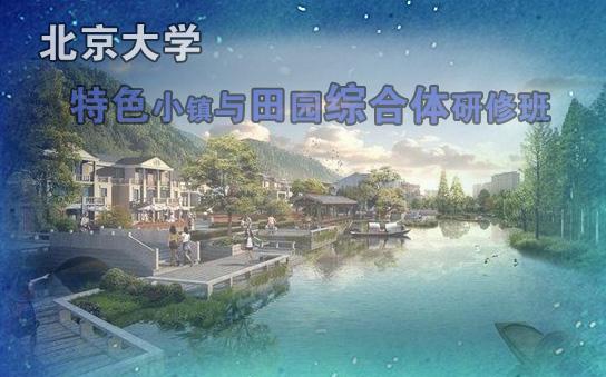 北京大学特色小镇与田园综合体研修班